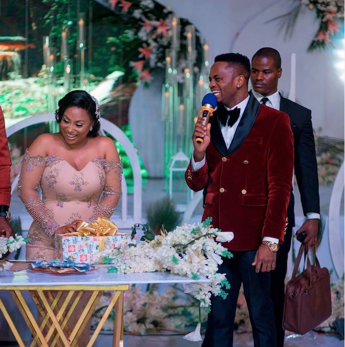 Diamond Platnumz giving speech at Esma's wedding